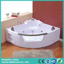 Nice Design Massage Corner Bathtub with Glass (TLP-632 pneumatic control)