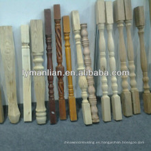 poste de madera maciza / columna de madera / madera brumosa