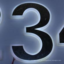 Plástico de alta qualidade LED letras do alfabeto