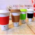 2016 Taza de café determinada del viaje de China del sistema del silicón del doble de la alta calidad de Haonai de la venta