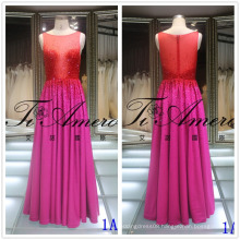 New Bling Bling Bling Maxi Prom Dress Handmade Beading Evening Wedding Dress Red Hot Drilling Lady Gown Tiamero 1A1170