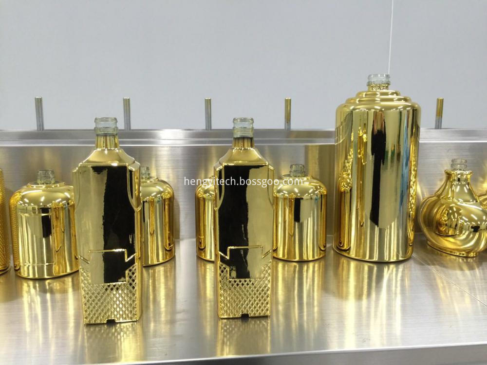metalizing glass bottle