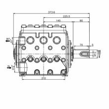 Triplex-Kolbenpumpe zum Waschen von Straßen, Serie KF28