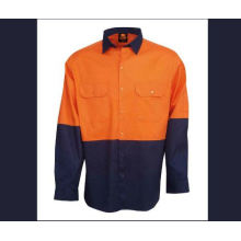 T/C Reflective Shirt with Long Sleeve with Orange and Navy