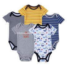 2017 verão em estoque infantil bodysuit manga curta bebê romper new born baby clothing