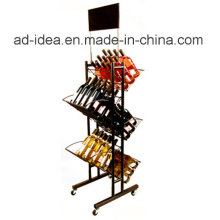 Affichage rotatoire spécial de vin en métal de conception avec le logo adapté aux besoins du client