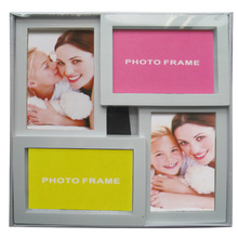 4 openings White Plastic Collage Photo Frame