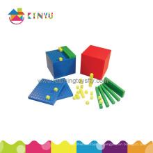 Jouets de mathématiques éducatives en plastique / Base Ten Blocks (K001)