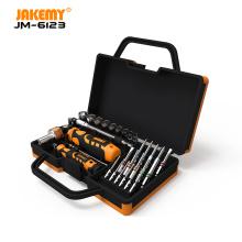 JAKEMY JM-6123 Manufacturer 31 pcs Color Ring hardware hand electric screwdriver set repair tool diy Hand Tool Set
