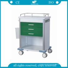 АГ-GS005 больнице темно-зеленые лекарства вагонетки