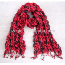 Fashion ladies 100% viscose crinkle scarf