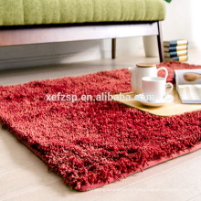 Confortable rugs for kids room microfiber red carpet