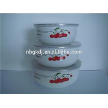5pcs 10/12/14/16/18 Enamel Bowl Mixing bowl Set