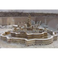 Fontaine de piscine en marbre extérieur pour jardin en pierre (SY-F056)