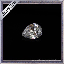 2X3mm Small Size Pear Cut Synthetic Cubic Zirconia Gemstone