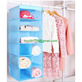 Fabric Baby Nursery Closet Organizer for Clothing, Diapers, Blankets, Toys - Hanging