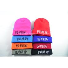 Sombrero de punto personalizado de un solo color Beanie Hat