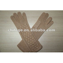 Damen Winter gestrickte lange Kaschmir Handschuhe Fäustlinge