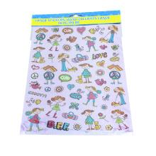 Kleines Mädchen schöne Aufkleber Tagebuch Dekoration Aufkleber transparent PVC Aufkleber Aufkleber