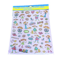 Adorable autocollant transparent d'autocollants de PVC d'agents de décoration de journal intime de petite fille