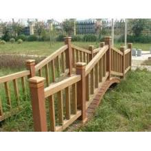 Valla al aire libre WPC de Baochu Landscape con bajo mantenimiento (100 * 100)