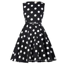 Kate Kasin Kinder Audrey 'Vintage Divinity 50s Kleid Vintage Retro Baumwolle Blumenmuster Vintage Kleine Mädchen Kleid KK000250-16