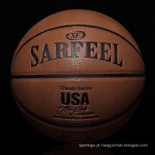 2017 YONO escritório de basquete de couro promocional atacado basquete basquete personalizado