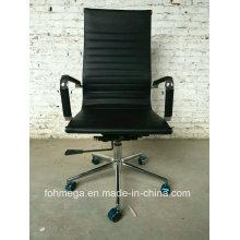 High Back Kommerzielle Nutzung Balck Leder Bürostuhl mit Rädern