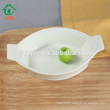 2015 New designed Hotel Fashion Ceramic Soup Fruit Bowl with Double Ears