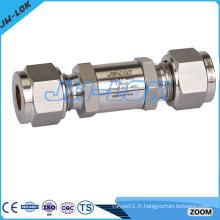 Vanne anti-retour en acier inoxydable pour compresseur d'air