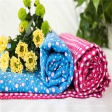 Tissu de flanelle de coton pour les vêtements de bébé, couverture