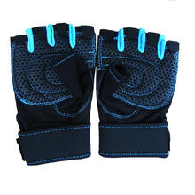 Medio dedo guantes de fitness levantamiento de pesas entrenamiento culturismo gimnasio guante