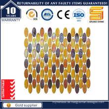 Ovales Glas Mosaik Fliese, Glanz Regenbogen Glas Mosaik Kse9316