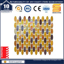 Oval Glass Mosaic Tile, Luster Rainbow Glass Mosaic Kse9316