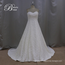 A-Line Bridal Dresses Beading Lace Netting