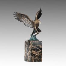 Sculpture en bronze pour animaux Statue en laiton à charpente en aigle Tpal-290
