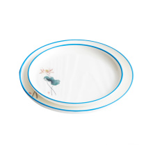 Luxury plate set melamine Chinese style Chinese restaurant round dishes custom household simple dishes tableware