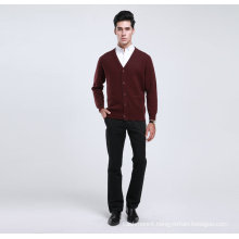 Bn1488yak Wool/Cashmere V Neck Cardigan Long Sleeve Sweater/Clothes/Garment/Knitwear