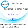 Shenzhen Port LCL Consolidation To Buenos Aires