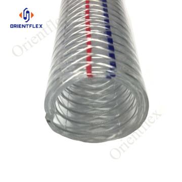 tubo in PVC anti-chimica in filo di acciaio per stazione di servizio