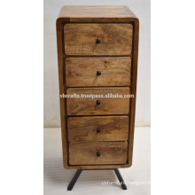 Art Deco Retro Mango Wood Drawer Cabinet