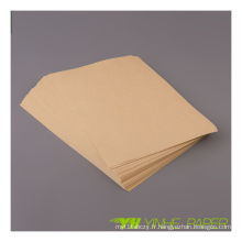 Fabricant de papier autocollant marron en gros
