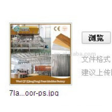Linha de produção de parquet de madeira / máquina de produção de piso laminado HDF