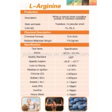 Suministro de alta pureza L-arginina en polvo, L-arginina precio GMP