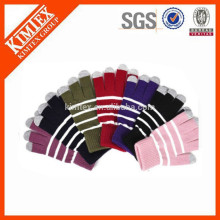 wholesale winter acrylic knit plain tactile gloves