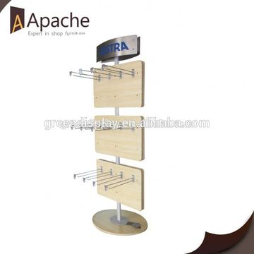 Stable performance big floor hook snack display rack