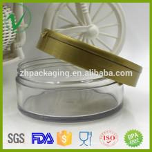 Jarra de plástico de uso cosmético de PET de alta calidad para cosméticos