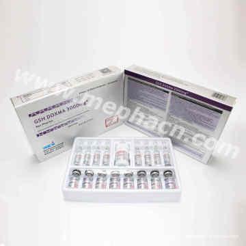 Piel Whitening Inyección de glutatión y Actd / Ctd Dossier de la inyección de glutatión 300mg / 600mg / 900mg / 1200mg / 1500mg / 2400mg / 3000mg