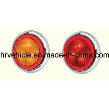 Lampe de dégagement latéral à LED en forme ronde, lampe de signalisation pour camion