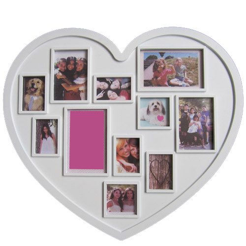 popular 11 openings white heart family collage frame fotorahmen